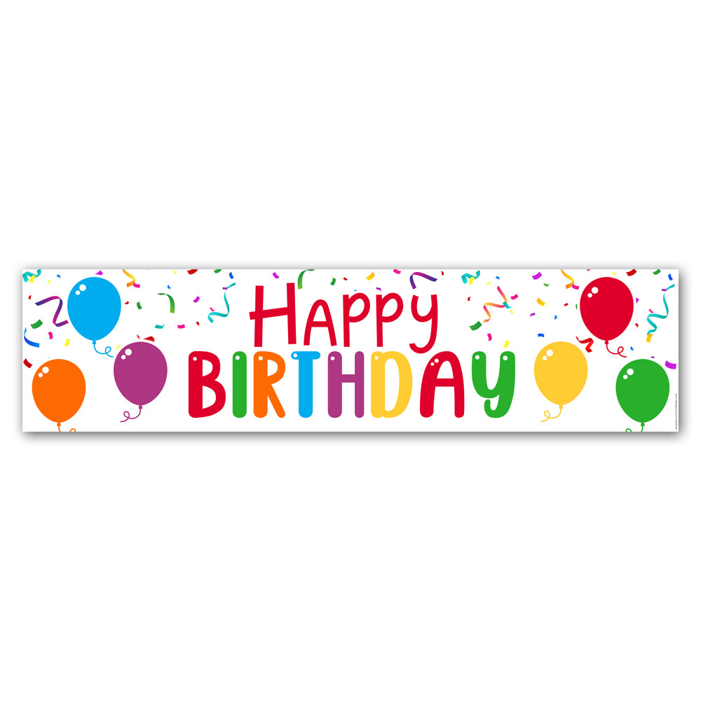 Birthday Balloons 'Happy Birthday' Banner Decoration - 1.2m