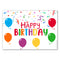 Birthday Balloons 'Happy Birthday' Poster Decoration - A3