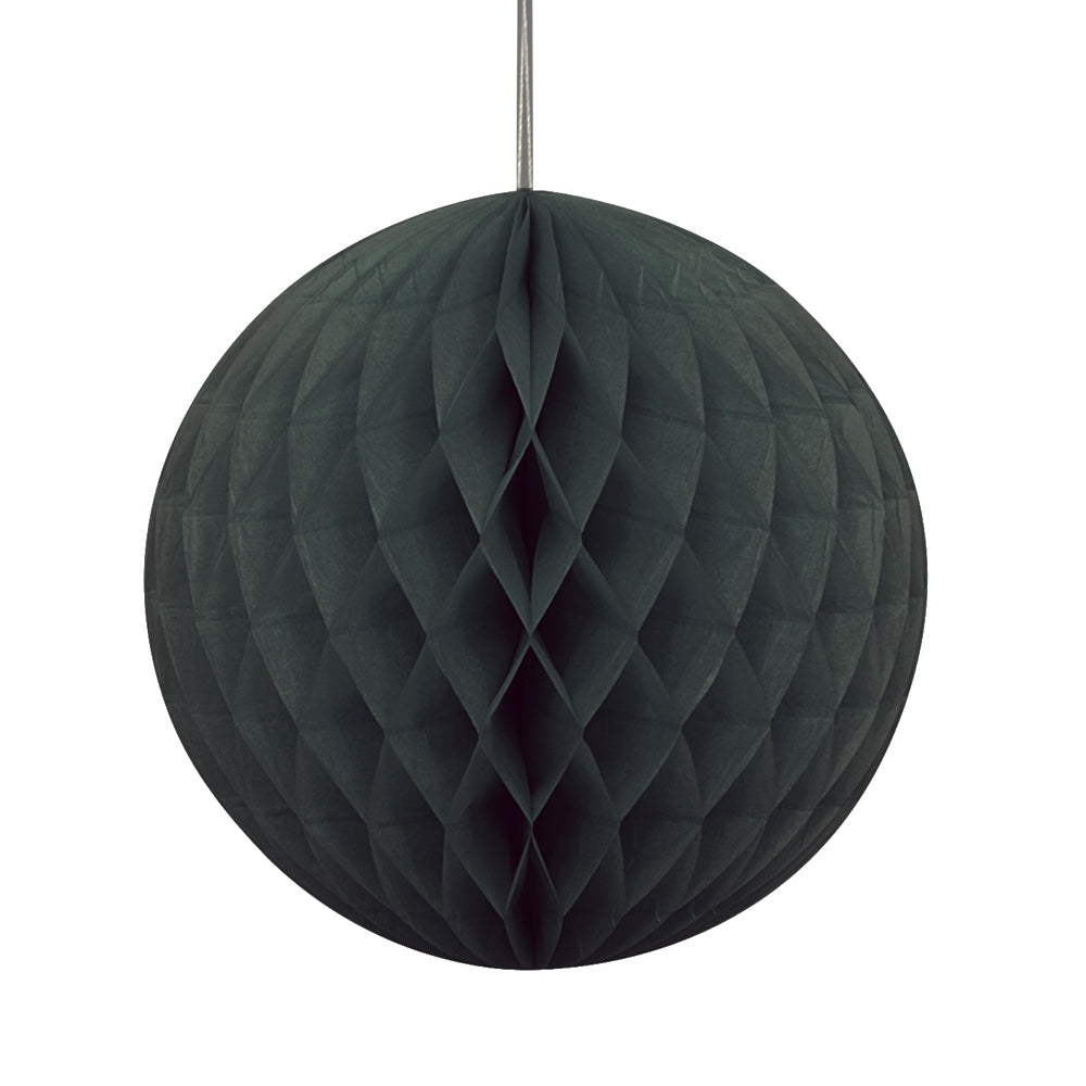 Black Tissue Ball - 20cm