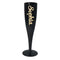 Gold Text Personalised Champagne & Prosecco Flute Glass Black - 175ml - Each