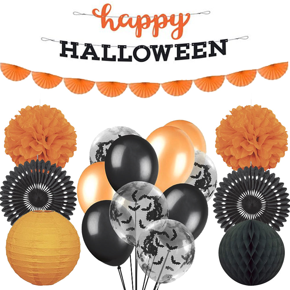 Black & Orange Halloween Decoration Party Pack