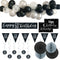 60th Birthday Black & Silver Glitz Decoration Pack