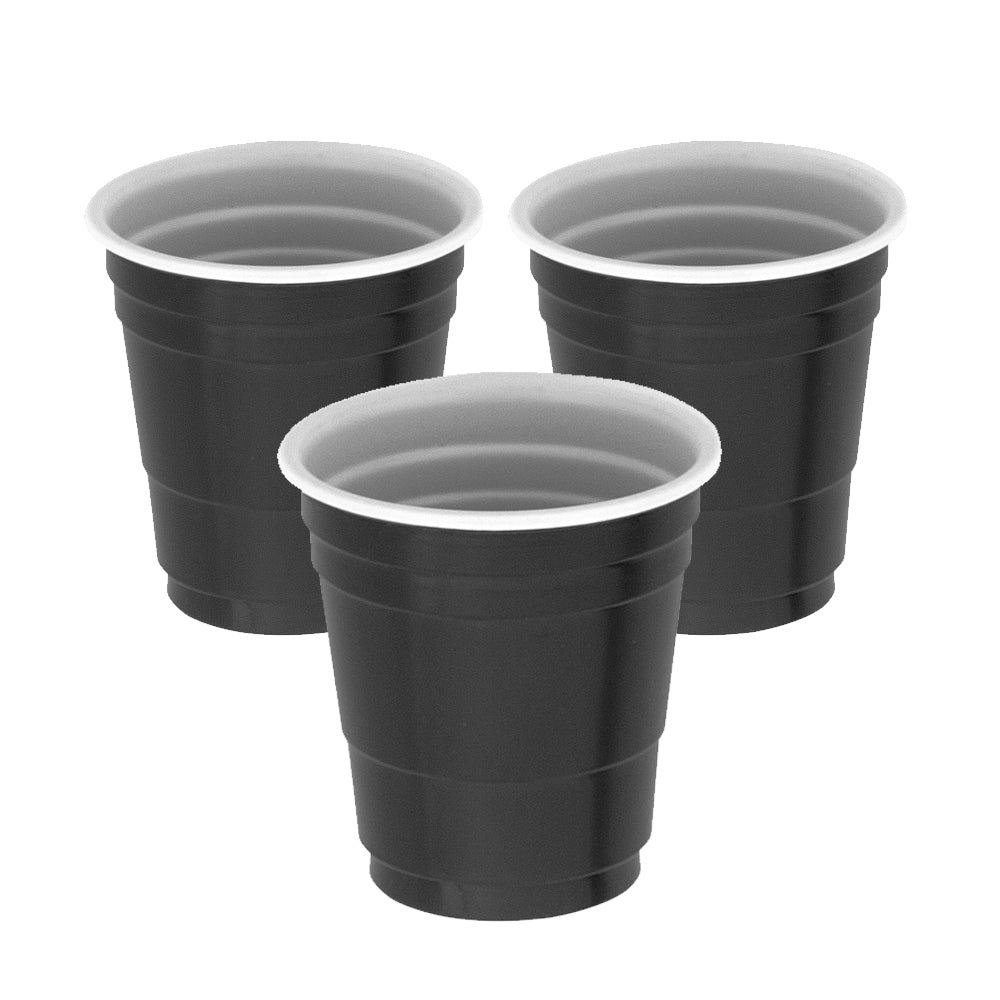 Black Plastic Shot Glasses – 59ml - Pack of 20