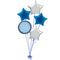 Blue Birthday Glitz Balloon Bouquet
