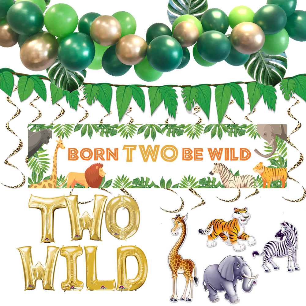 Born TWO Be Wild Jungle Decoration Pack