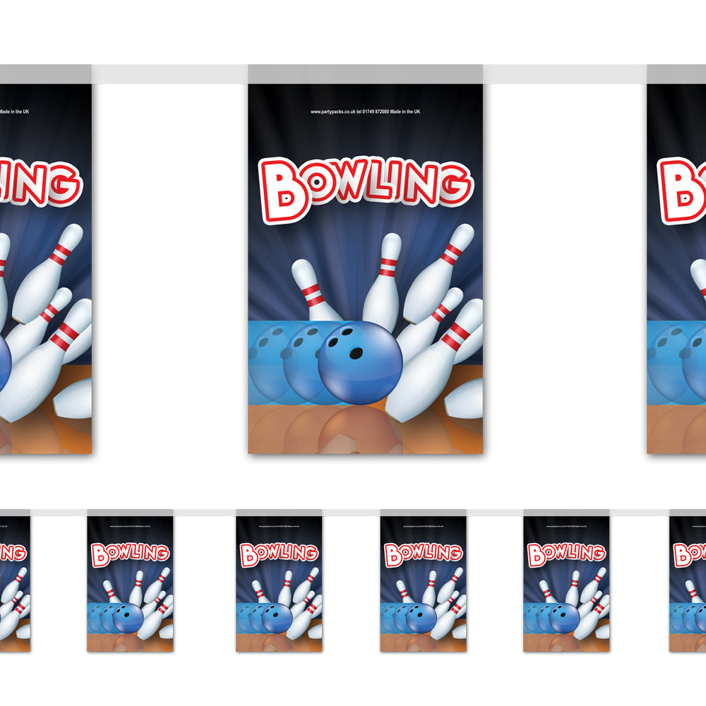 Bowling Paper Flag Bunting Decoration - 2.4m