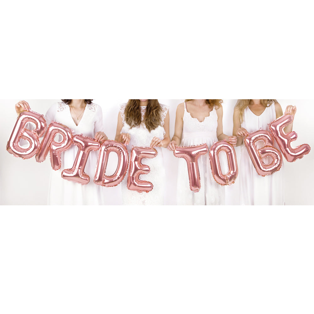 Rose Gold Bride To Be Balloon Bunting - 3.4m