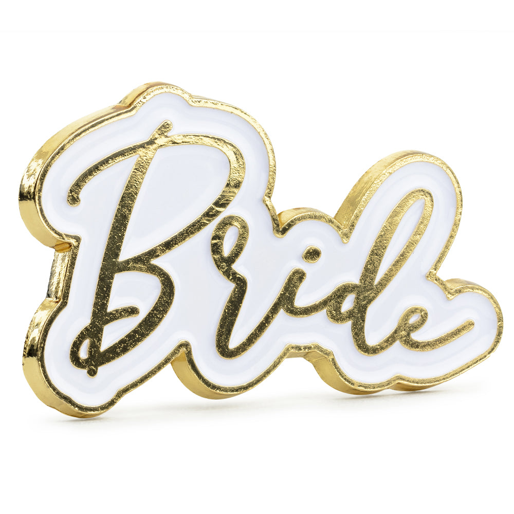 Bride Enamel Pin Brooch - 3.5cm