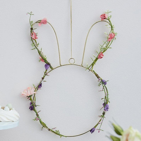 Easter Bunny Wreath with Foliage