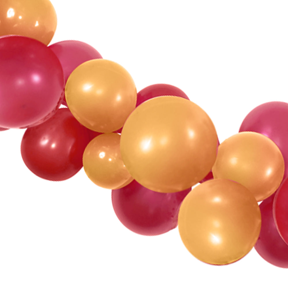 Gold and Burgundy Balloon Arch DIY Kit - 2.5m