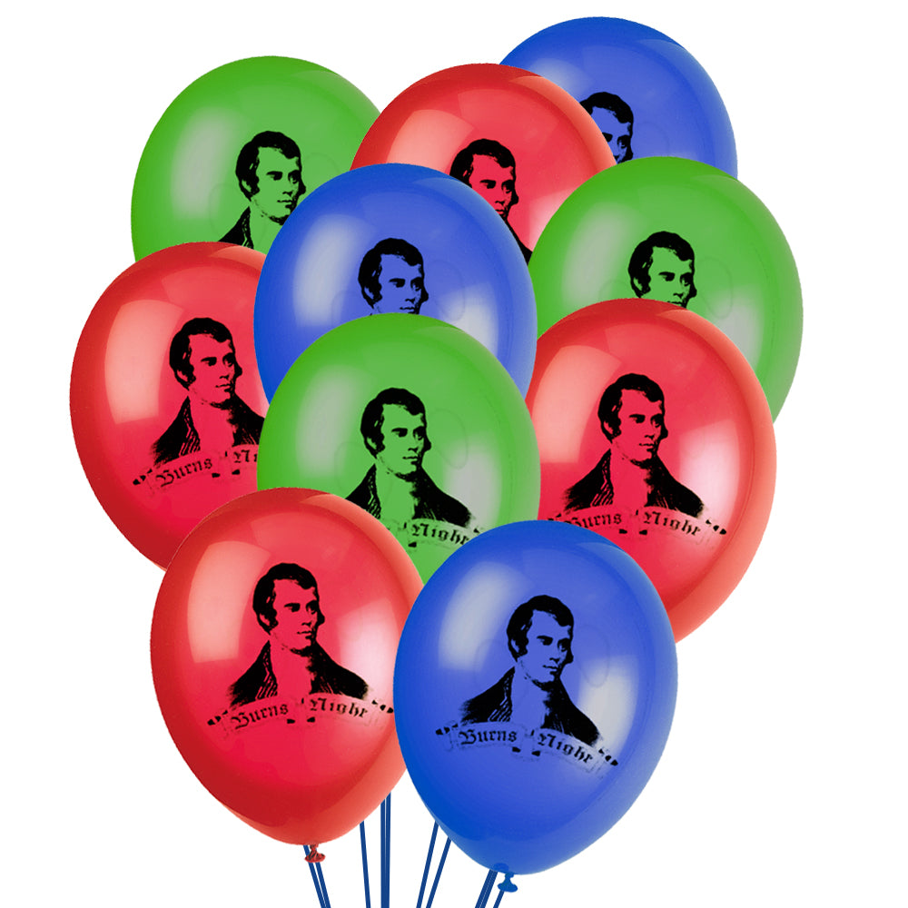 "Burns Night Latex Balloons - 10"" - Pack of 10"