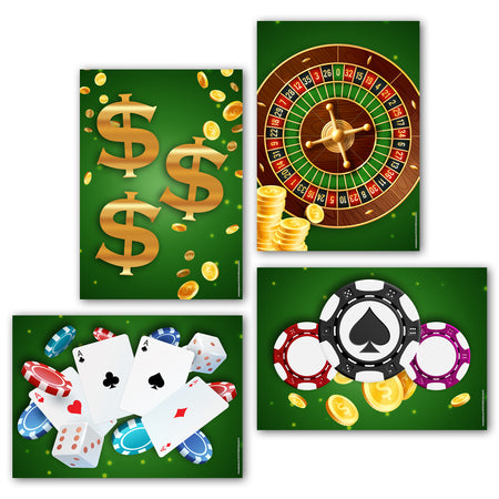 Casino Posters - A3 - Pack of 4