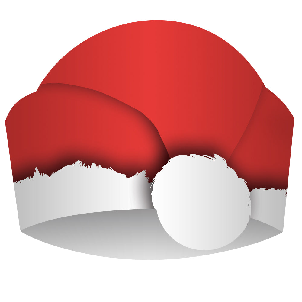 Santa Christmas Party Hats - Eco-Friendly Card - Each