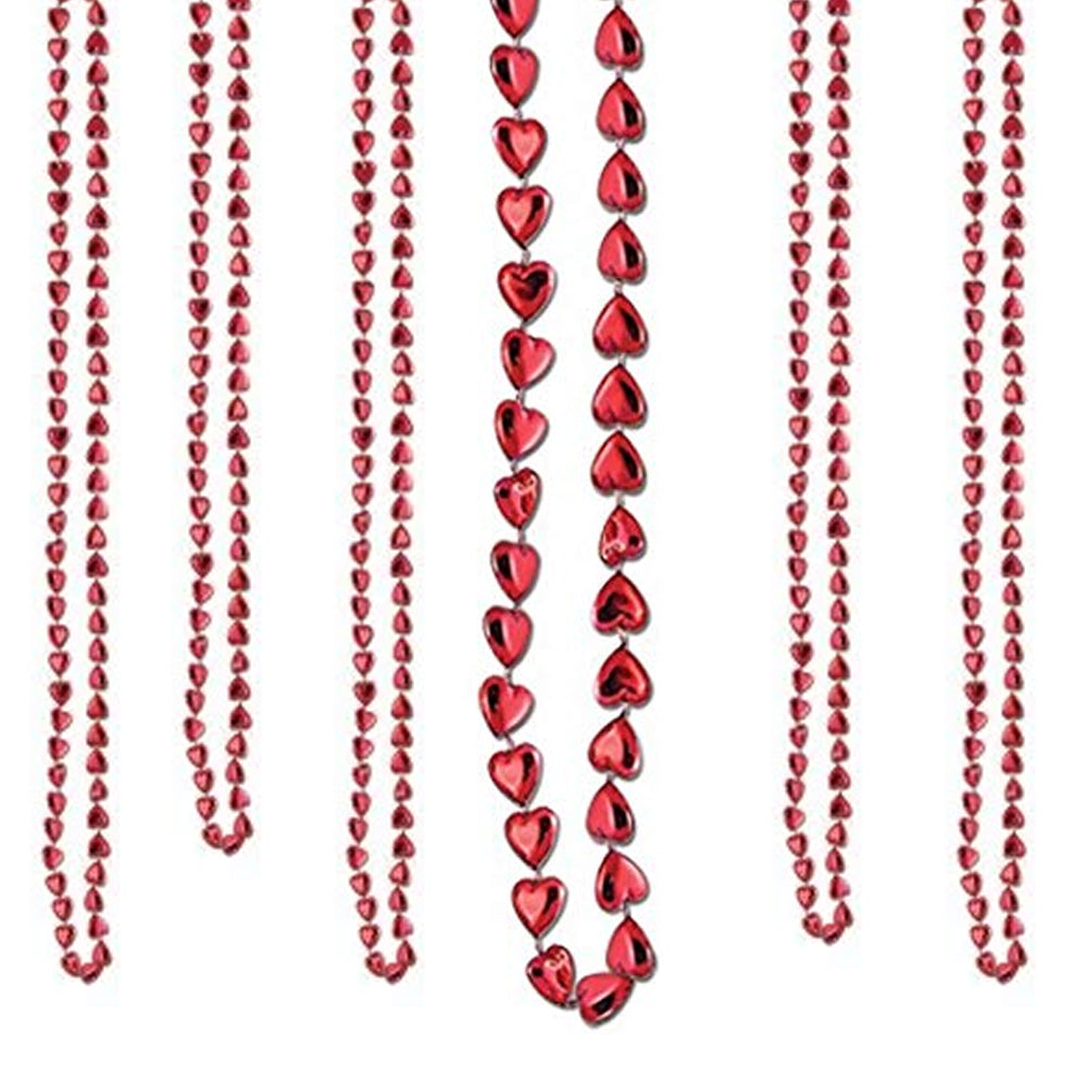 "Red Heart Beads 33"" Pack of 6"