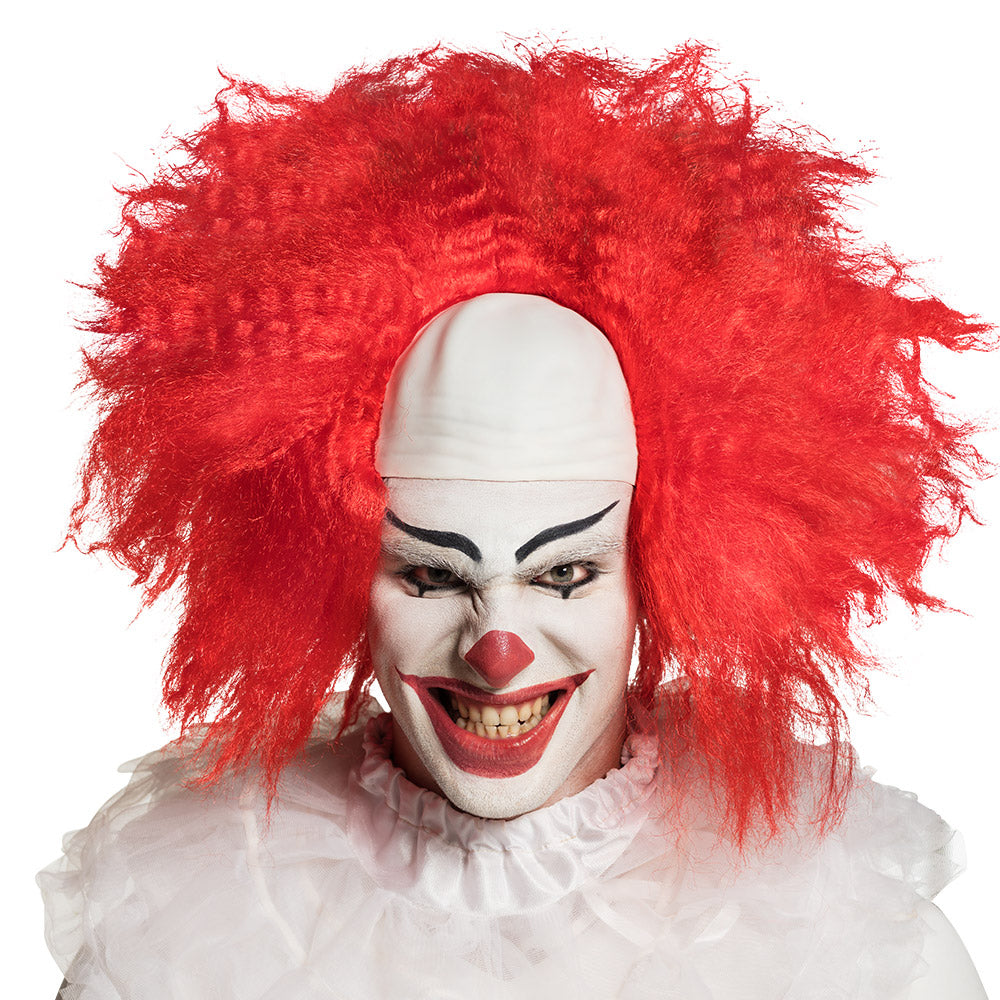 Deluxe Scary Clown Wig with Bald Head