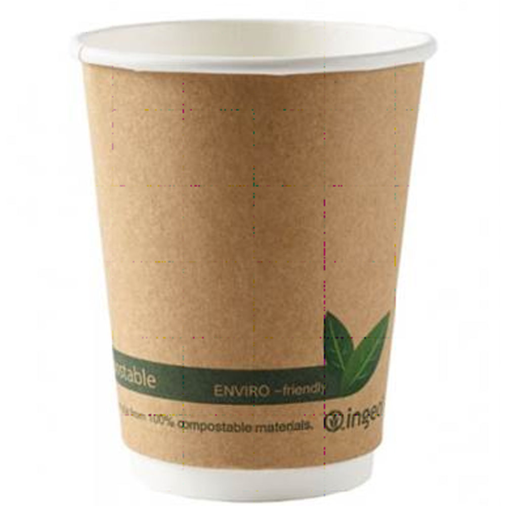 Biodegradable Double Wall Take-Away Coffee Cup - 340ml - Each