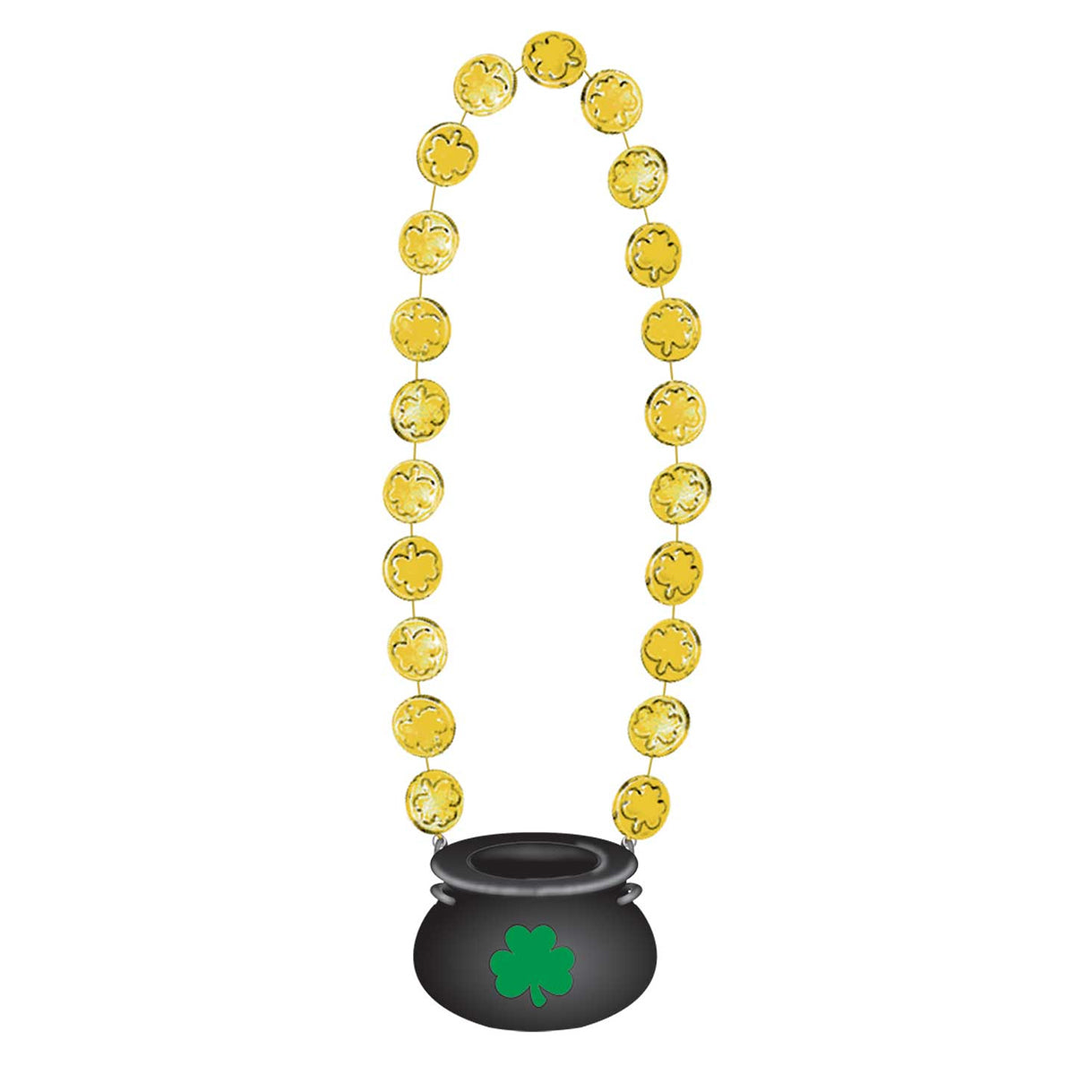 St. Patrick's Day Gold Coin Necklace - 45cm