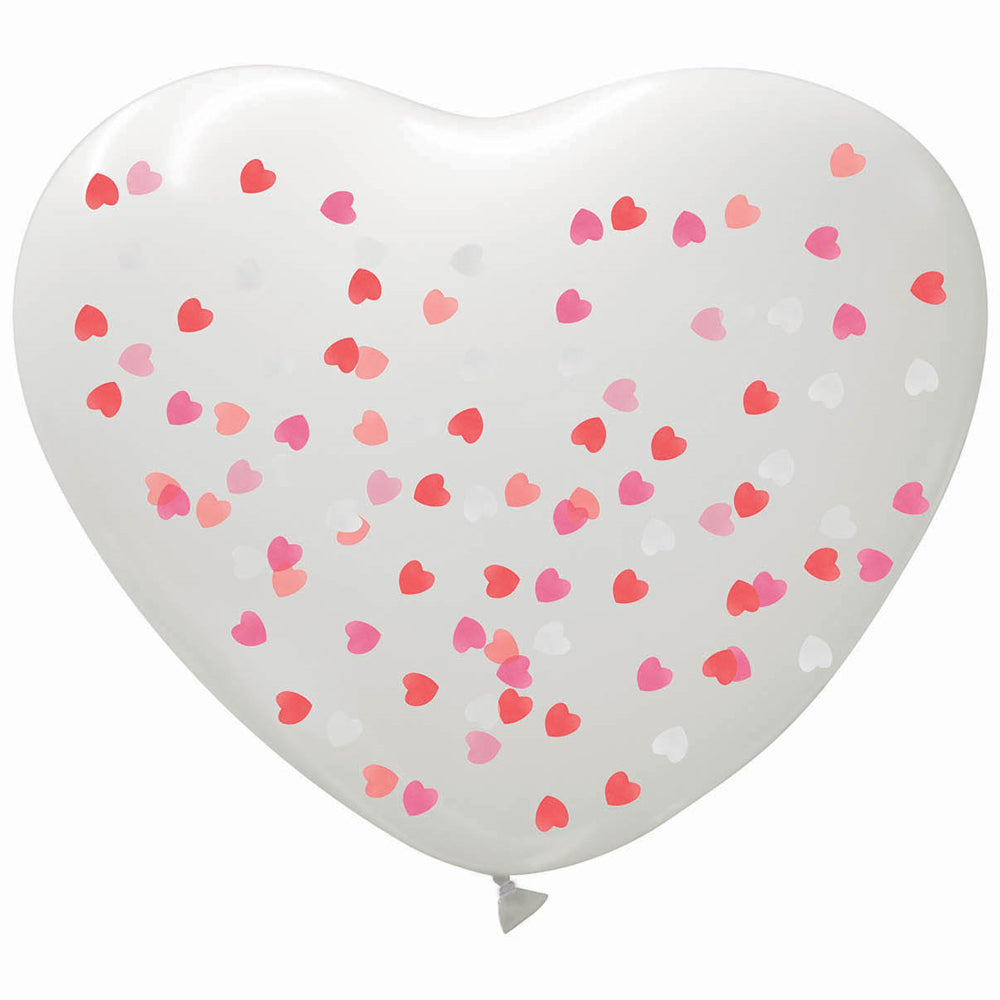 Giant Heart Confetti Filled Balloon - 29""