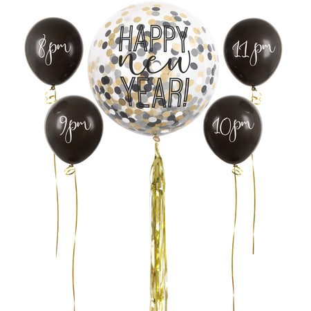 New Year's Eve Countdown Balloons