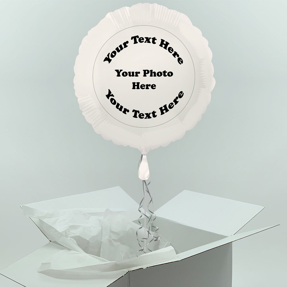 Inflated Personalised Photo Balloon- Custom Design