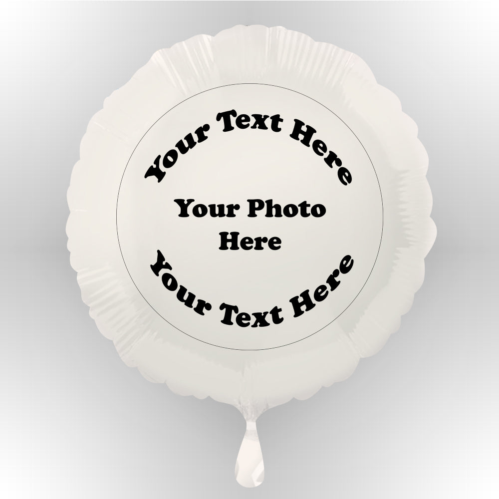 Custom Design Personalised Photo Balloon