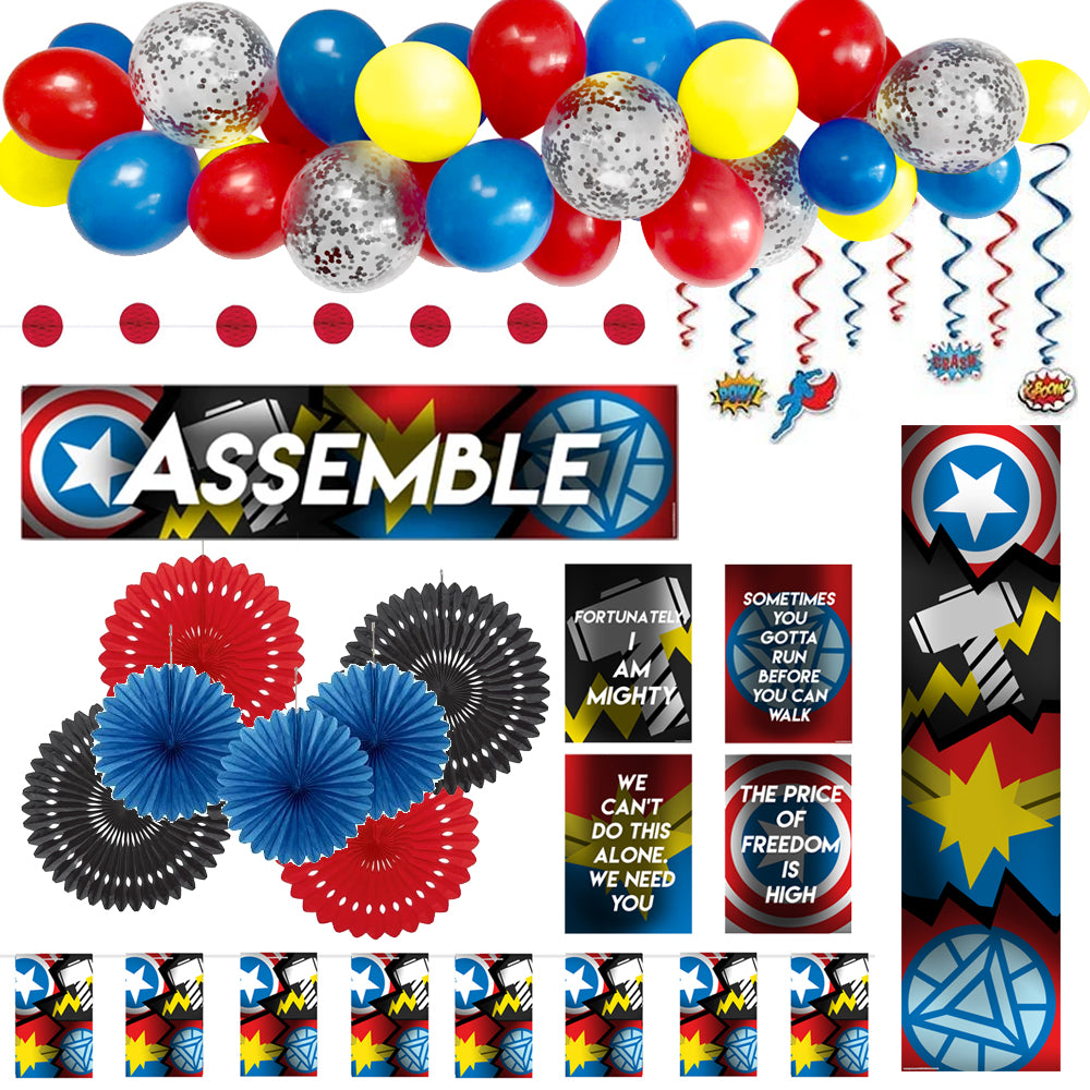 Superheroes Assemble Decoration Party Pack