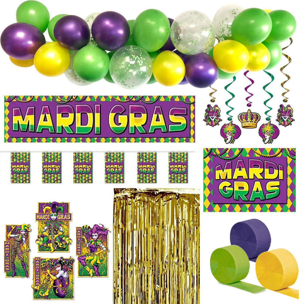 Mardi Gras Party Decoration Pack