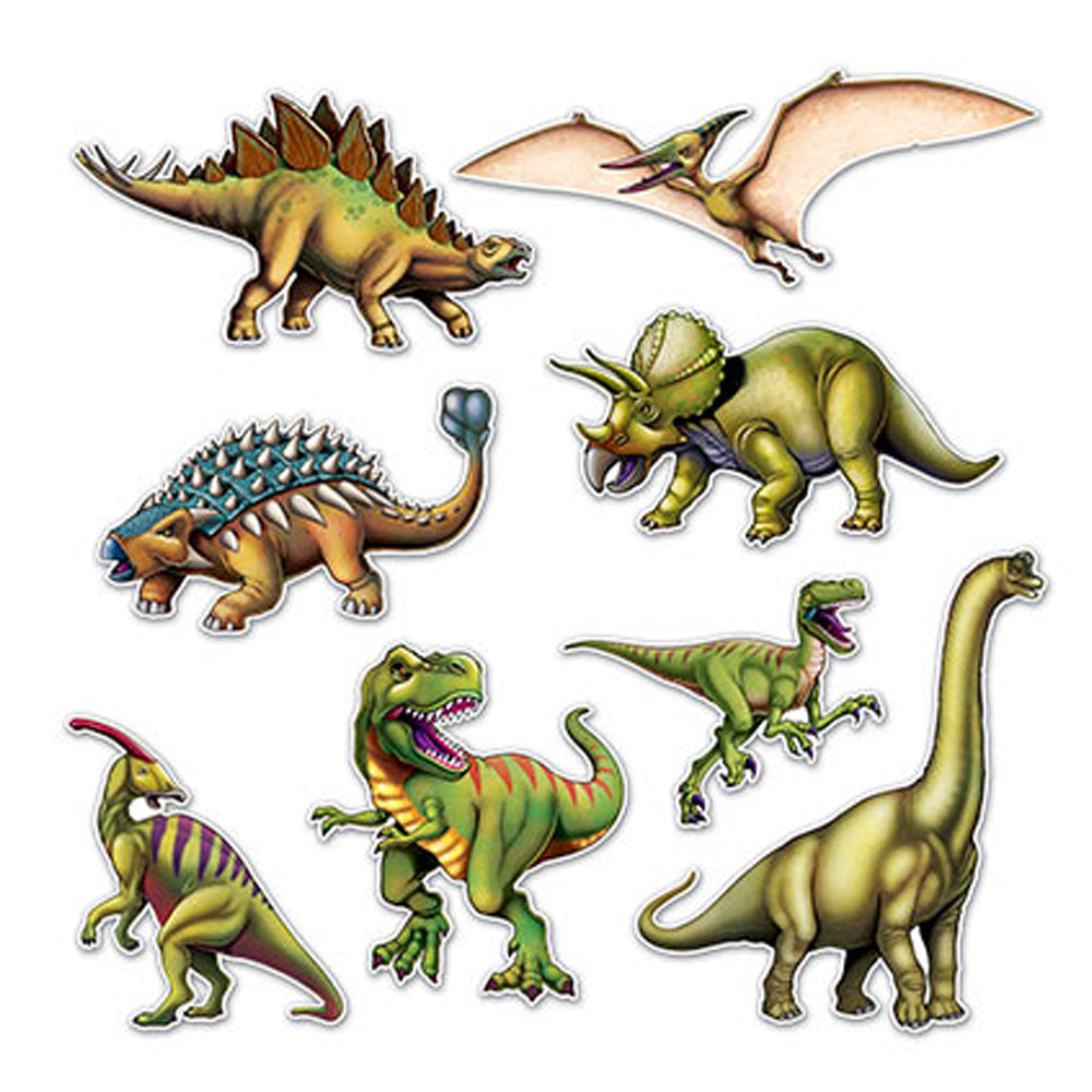 Dinosaur Cutouts - Pack of 8