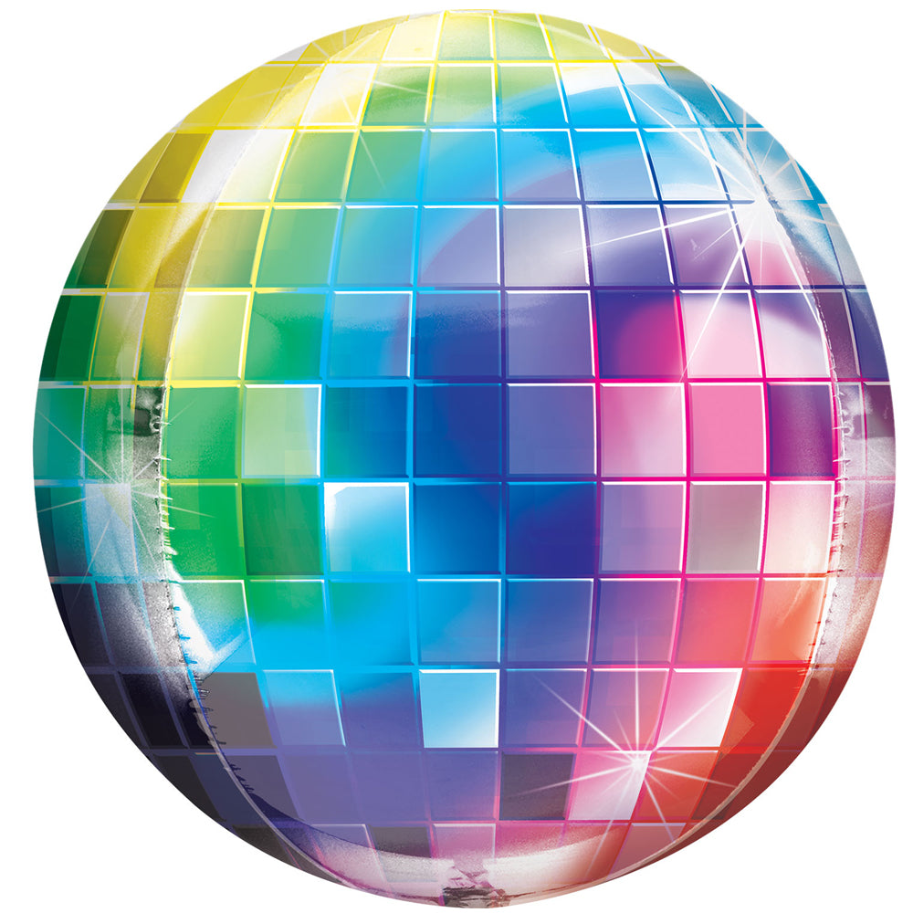 70's Disco Fever Disco Ball Orb Foil Balloon - 16""