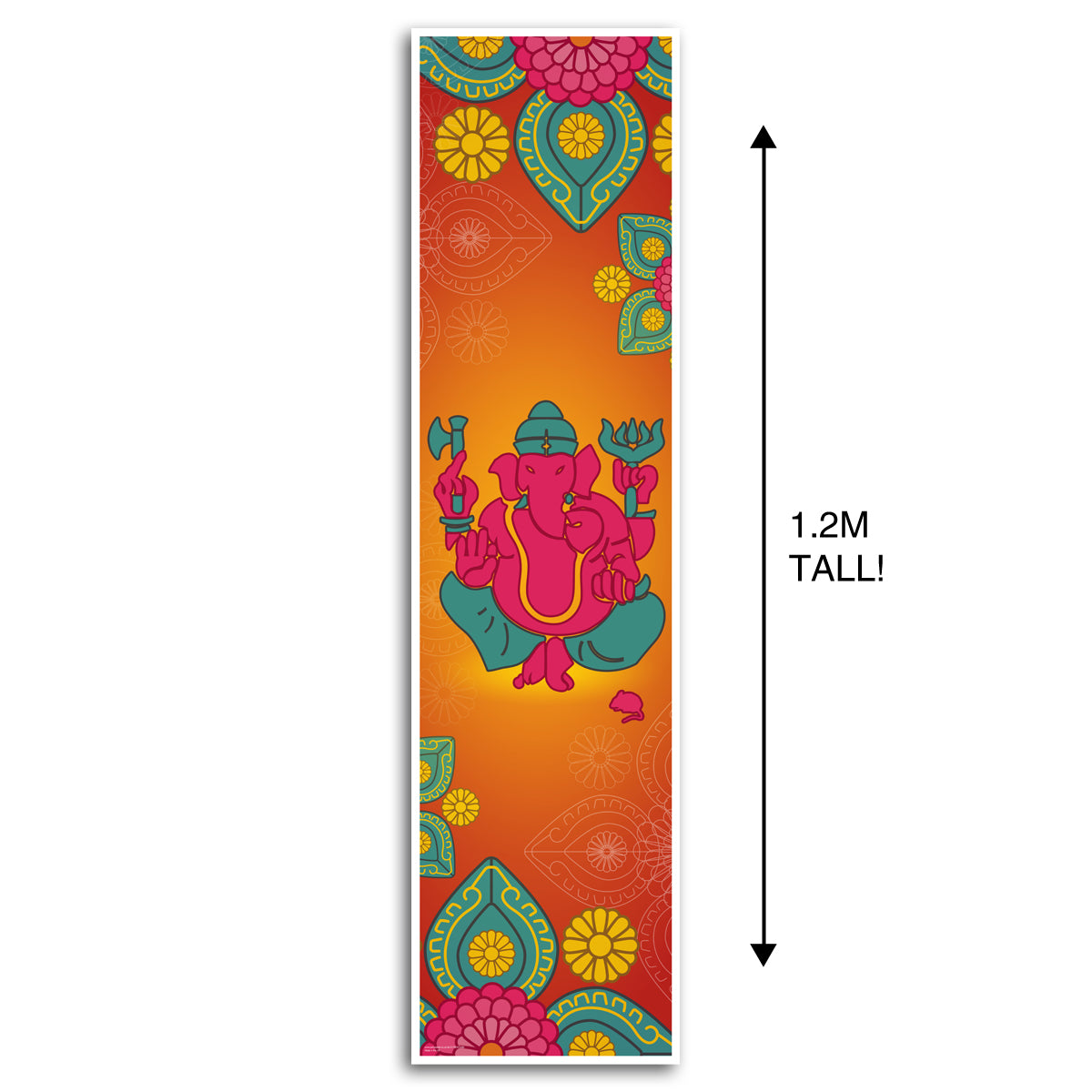 Diwali Ganesh Portrait Wall & Door Banner Decoration - 1.2m