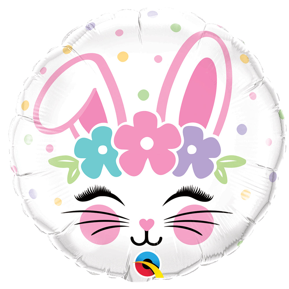 Easter Bunny Face Foil Balloon - 18""