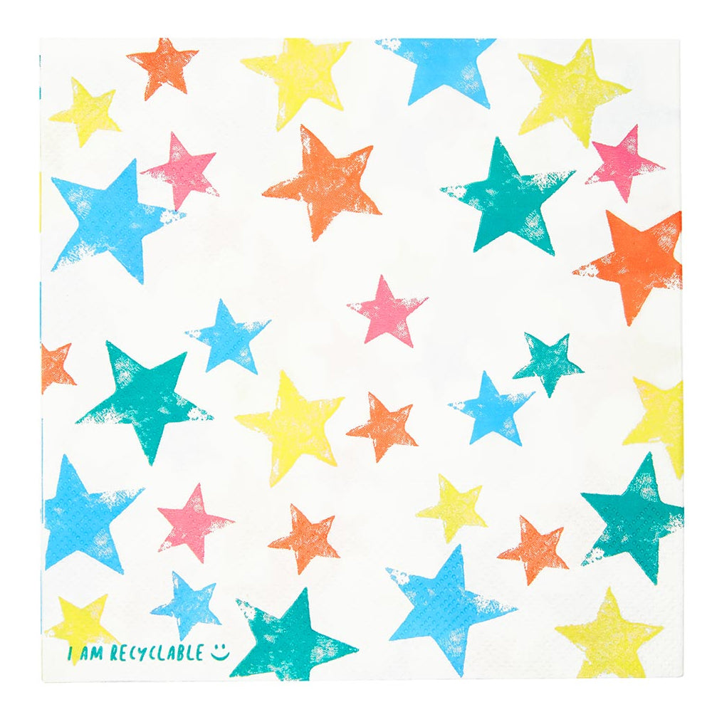 Eco Friendly Star Paper Napkins - 33cm - Pack of 20