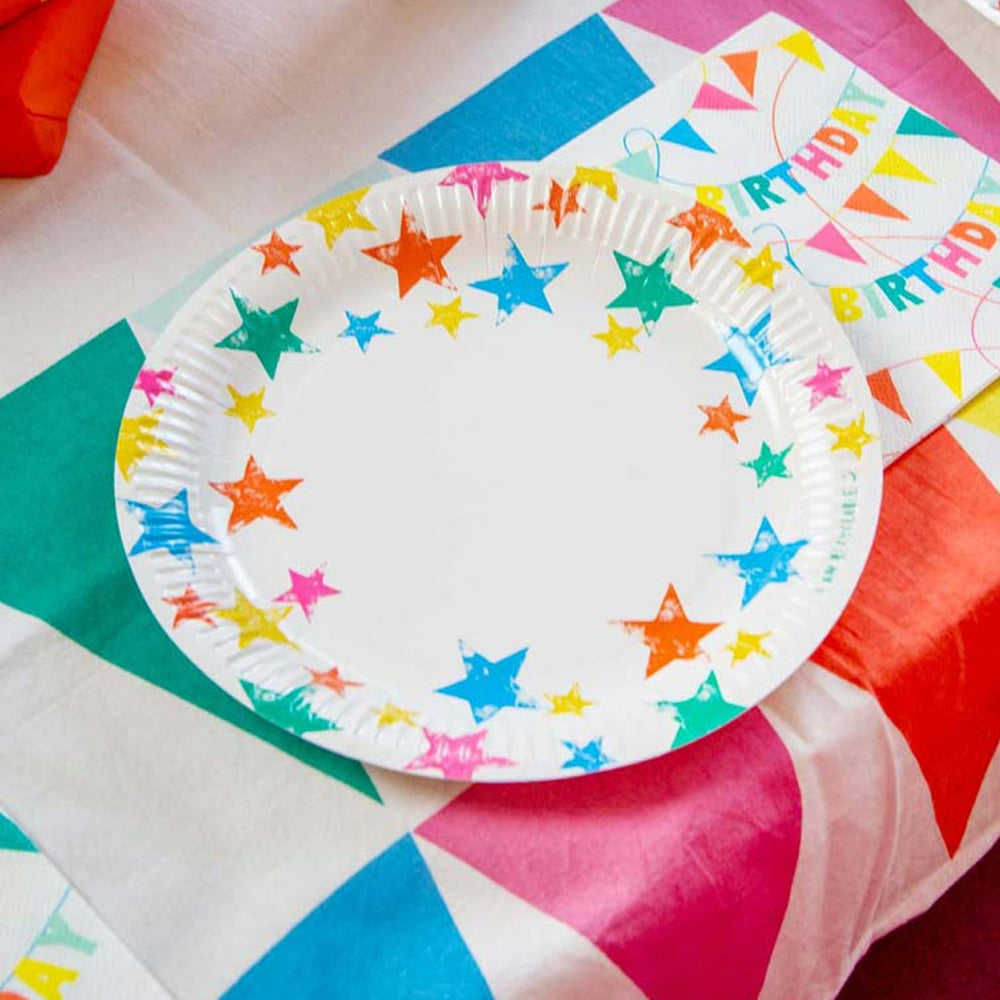 Eco Friendly Star Paper Plates - 23cm - Pack of 12