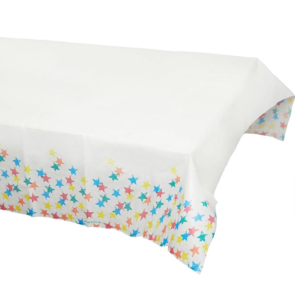 Eco Friendly Star Paper Table Cover - 180cm x 120cm