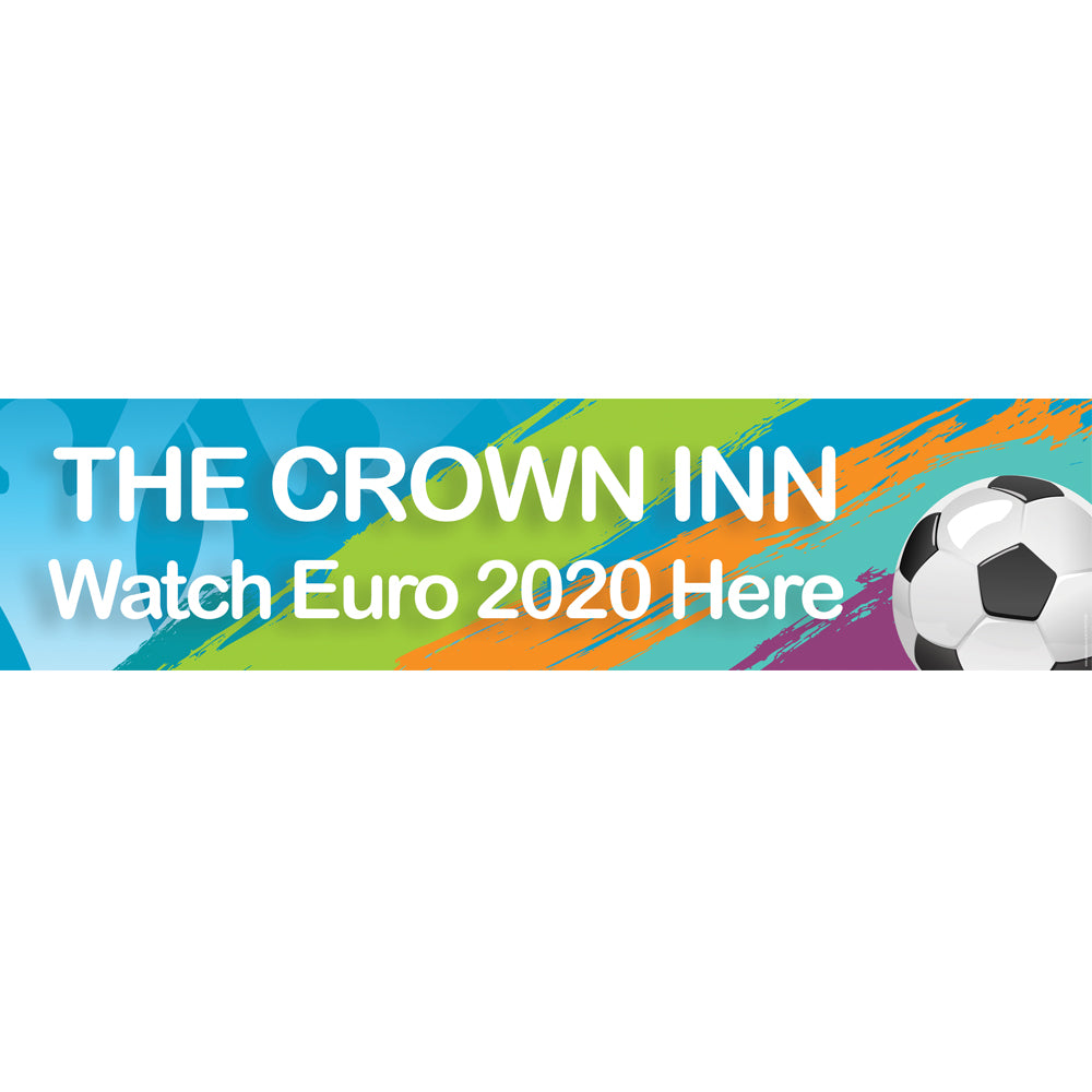 Personalised Euro 2020 Football Banner Decoration - 1.2m