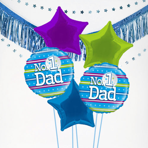 Inflated Father's Day No. 1 Dad Balloon Bundle in a Box