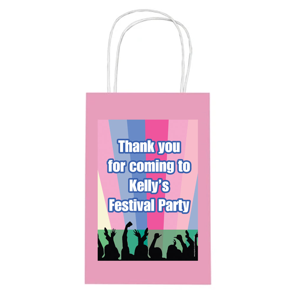 Festival Themed Paper Party Bags - Pack of 4