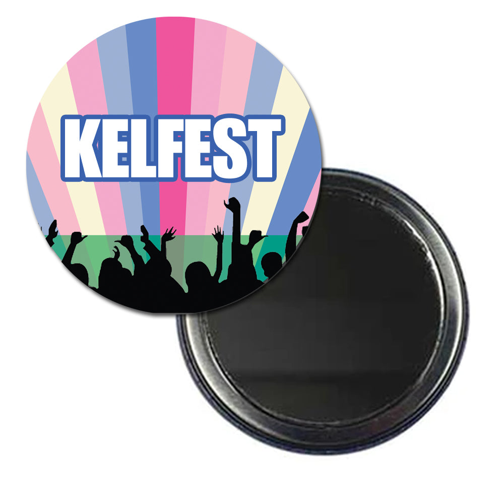 Personalised Pocket Mirror - Festival - 58mm