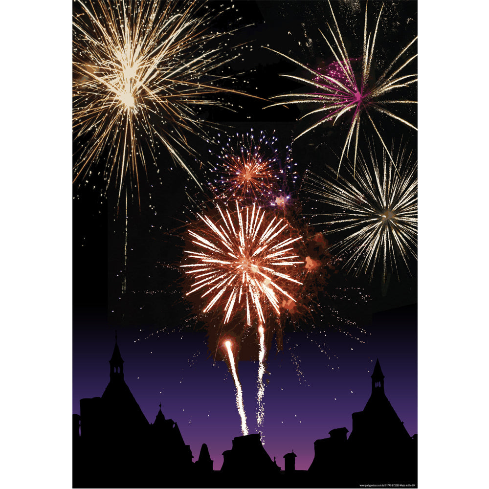 Fireworks Bonfire Night Poster - A3