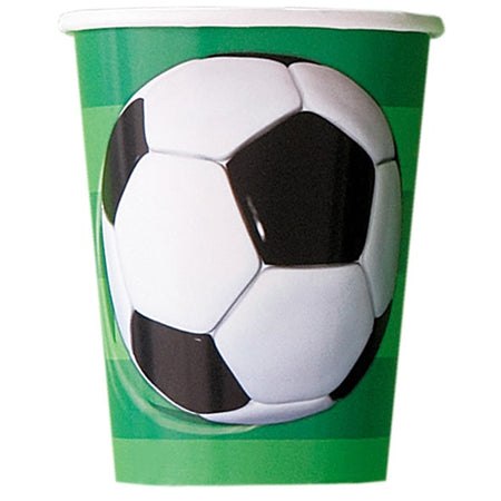 3-D Football Cups - 9oz - Pack of 8