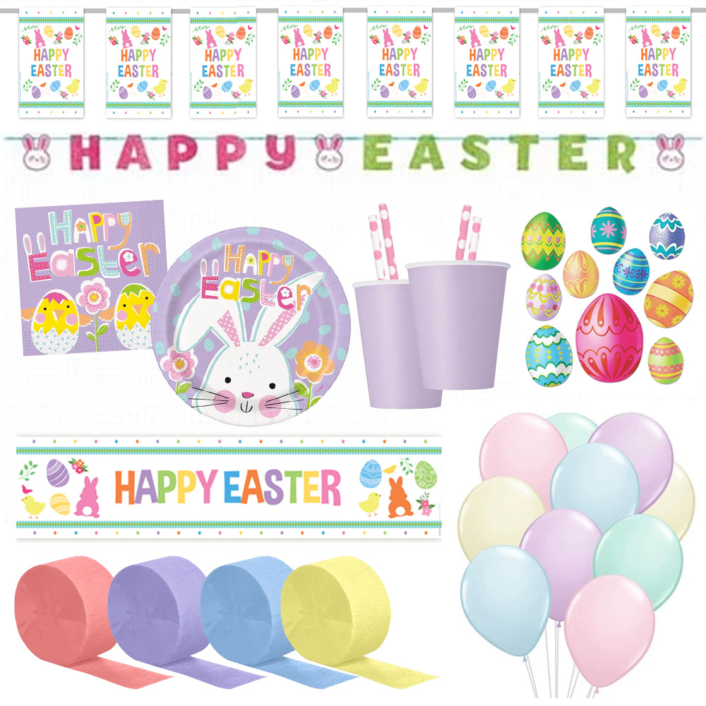 Easter Garden Party Decorations and Tableware Pack