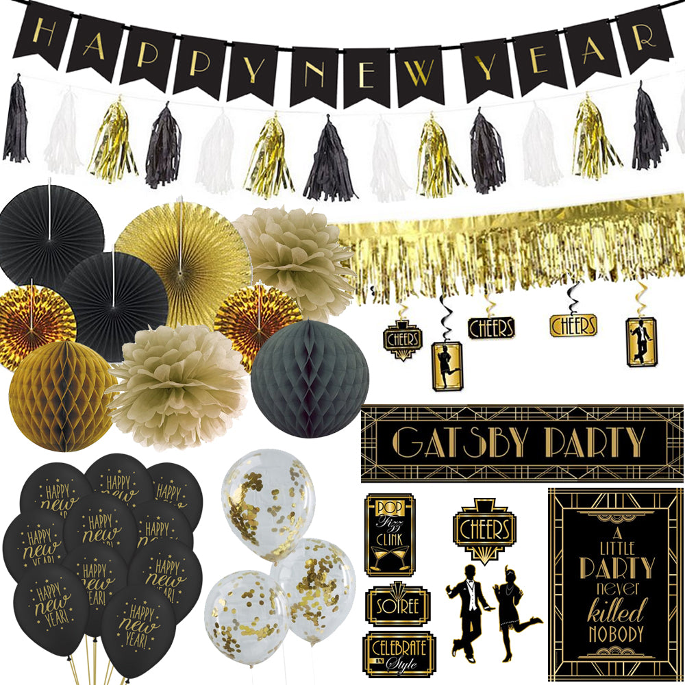 1920s Gatsby New Year Decoration Pack