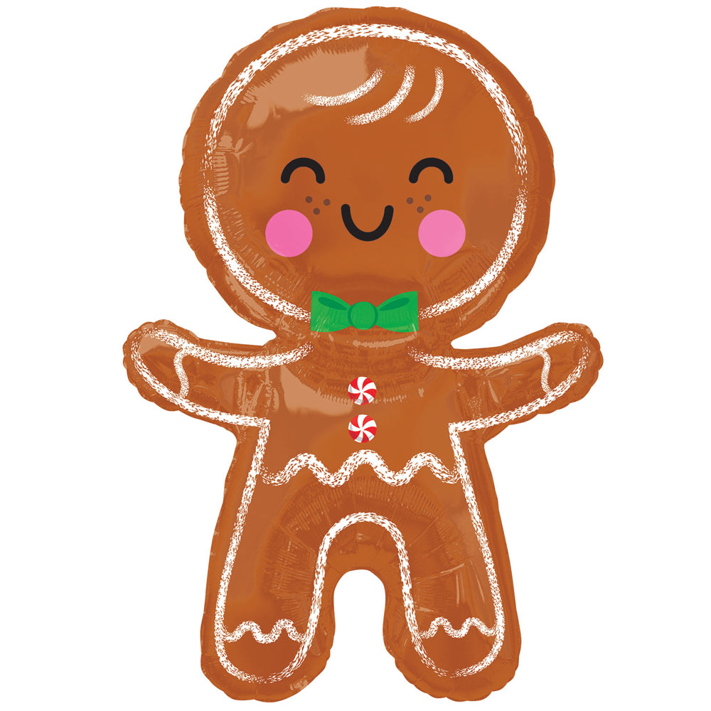 Happy Gingerbread Man Foil Balloon - 31""