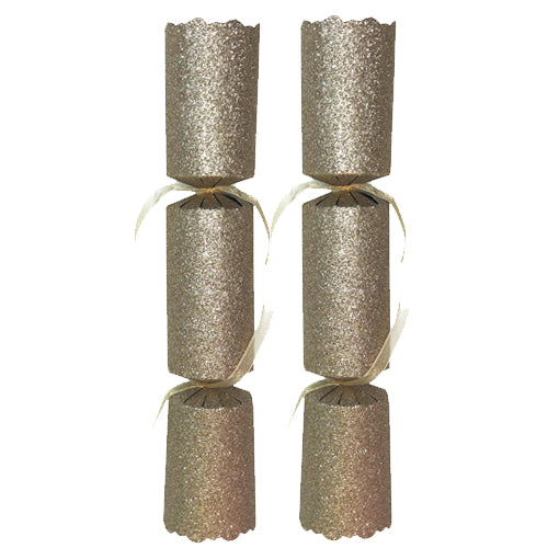 "Gold Glitter Christmas Crackers - 12"" - Each"