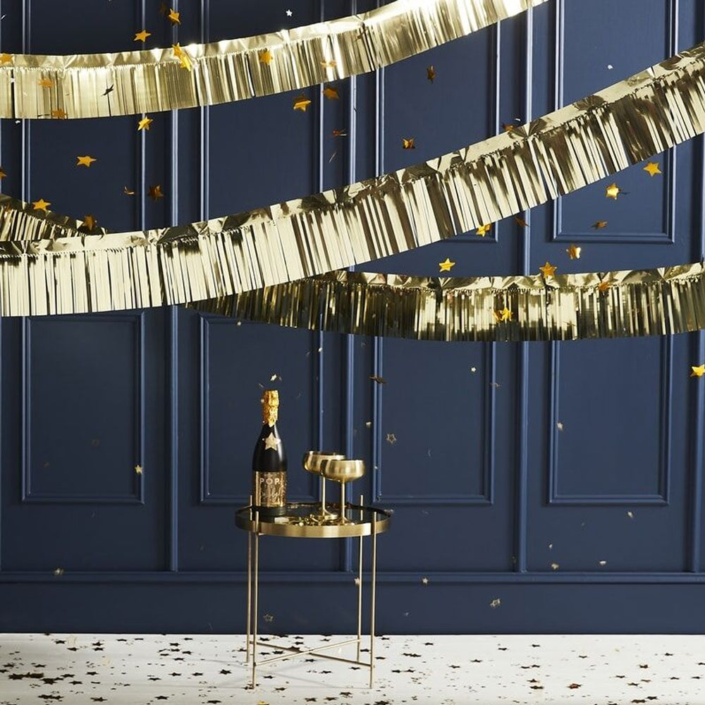 Gold Metallic Fringed Garland - 5m
