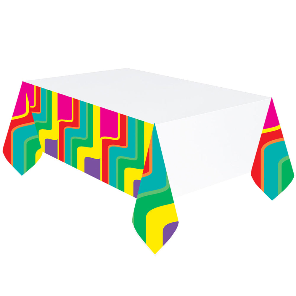 70's Good Vibes Plastic Tablecloth - 137cm x 260cm