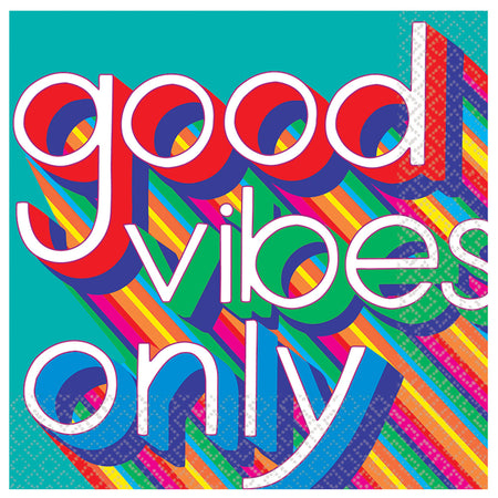 70's Good Vibes Napkins - 33cm - Pack of 16