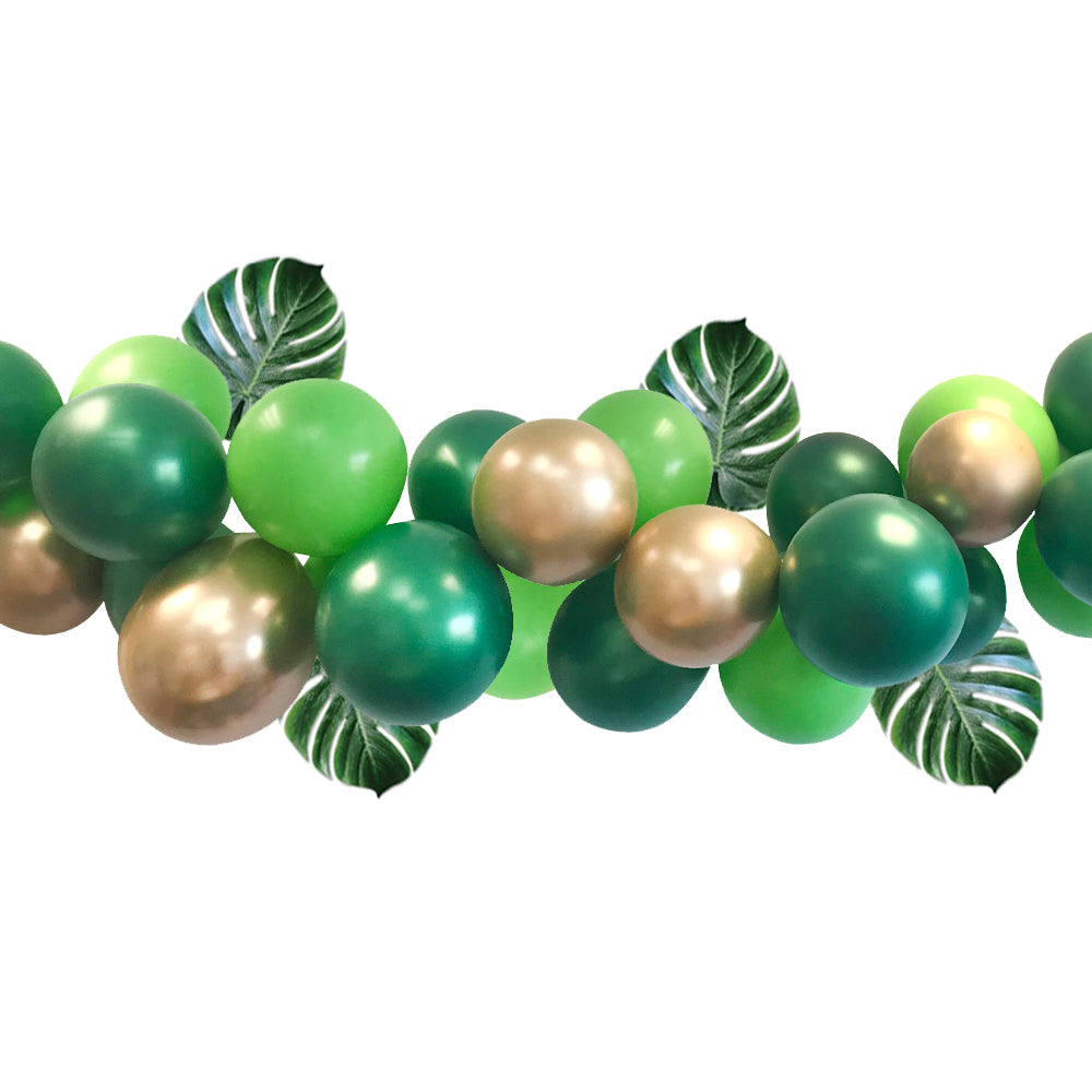 Green and Gold Jungle Balloon Arch DIY Kit - 2.5m