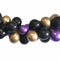 Black, Gold and Purple Balloon Arch DIY Kit - 2.5m