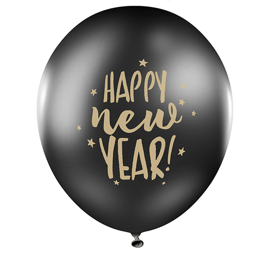 "Happy New Year Latex Balloons - 11"" - Pack of 10"